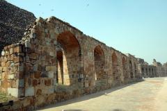Del av muren runt Old Fort, Delhi.