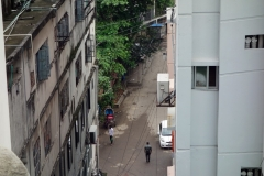 Utsikten från mitt rum på Zara Inn, Dhaka.