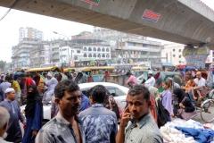 Enorma folkmassor i centrala Dhaka!