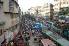 Trafiksituationen  i centrala Dhaka.
