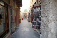 Mysig gränd i Souq Waqif, Doha.