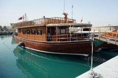 Dhow i hamnen i Doha.