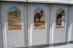 Målningar längs the Corniche, Doha.