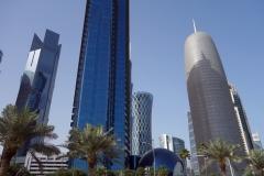 Skyskrapor i stadsdelen West Bay, Doha.