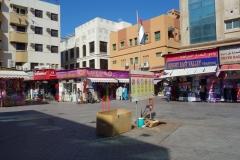 Lilla torget vid Sabkha Bus Station, Deira, Dubai.