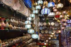 Lampaffär nära Gold Souq, Deira, Dubai.