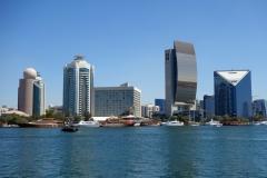 Deira från Al Hamriya, Bur Dubai, Dubai.