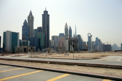 Området mellan Jumeirah Mosque och stadsdelen Trade Centre är som en enda stor byggarbetsplats, Dubai.