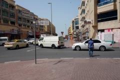 Gatuscen i stadsdelen Al Bada'a, Dubai.