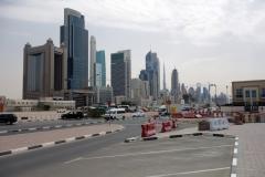 Förutom skyskrapor och bostadshus i stadsdelen Trade Centre syns även Burj Khalifa på denna bild, Dubai.