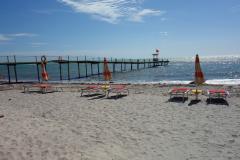 Den bästa delen av stranden i centrala Durrës.