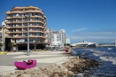 Strandscen i centrala Durrës.