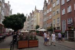 Mitt första möte med gatan Piwna där jag ska bo i en vecka, gamla staden Gdańsk.