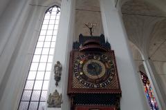 Astronomiska klockan, Mariakyrkan, Gdańsk.