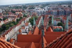Utsikten från kyrktornet, Mariakyrkan, Gdańsk.