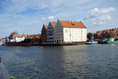 Museibyggnader på Ołowianka Island, Gdańsk.