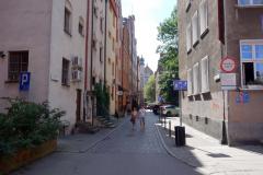 Gatuscen gamla stan, Gdańsk.