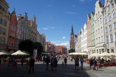 Długi Targ-torget, gamla stan, Gdańsk.