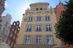 Fasad vid Długi Targ-torget, gamla stan, Gdańsk.