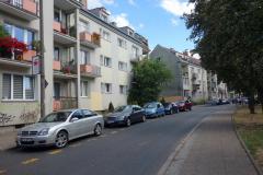 Ett vanligt bostadsområde i centrala Gdańsk.