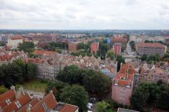 Utsikten från stadshuset i Gdańsk över gamla staden.