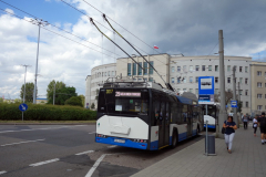 Trådbuss i centrala Gdynia.