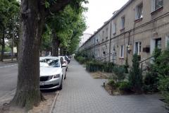 Gatuscen i centrala Gdynia.