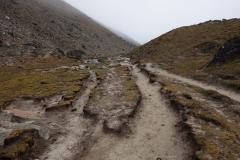 EBC-trekken mellan Lobuche och Gorak Shep.