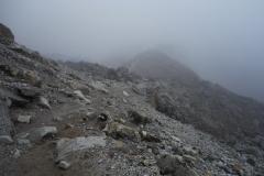 Leden längs Khumbu-glaciären mellan Lobuche och Gorak Shep.