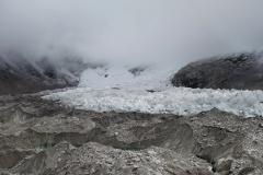 Berömda Khumbu Ice Fall, som är det första hindret man måste ta sig förbi om man skall bestiga Mount Everest.