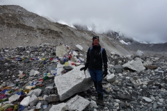 Stefan framme vid Everest Base Camp!