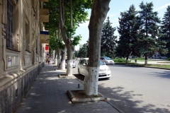 Gatuscen längs Stalin Avenue, Gori.