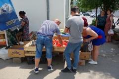 Fruktförsäljning i centrala Gori.