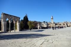 Området uppe vid Klippdomen, Tempelberget, Jerusalem.