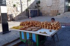 Brödförsäljning vid Lion's Gate, Jerusalem.