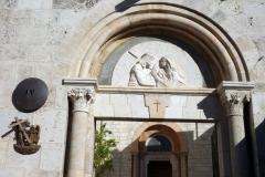 Station 4: Platsen där Jesus tros ha fått ögonkontakt med mamma Maria, Via Dolorosa, Jerusalem.