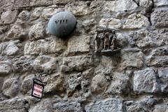 Station 8: Platsen där Jesus ska ha sagt till en grupp för sig själv och sina barn, inte för honom, Via Dolorosa, Jerusalem.