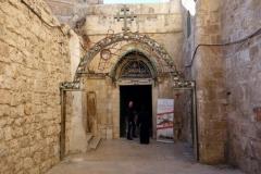 Den koptiska kyrkan vid station 9, Via Dolorosa, Jerusalem.