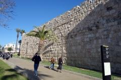 Muren runt gamla staden en bit norr om Jaffa Gate, Jerusalem.