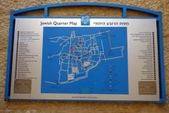 Karta över Jewish Quarter, Jerusalem.