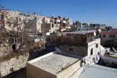 Vandringen på muren runt gamla staden mellan Jaffa Gate och Lion's Gate, Jerusalem.