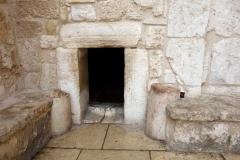 Entrén till Födelsekyrkan, Betlehem, Västbanken.