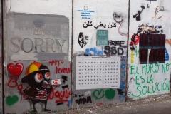 Muren som skiljer Västbanken från Israel vid Checkpoint 300, Betlehem.