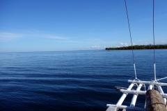 Vy mot Leytes kust  på väg ut mot Kalanggaman island.