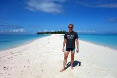 Stefan på östra änden av Kalanggaman island.