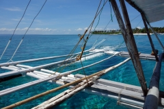 Farväl till underbara Kalanggaman island. Mot Palompon på Leyte.