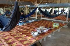 Seafood-restaurang i Kep. Krabborna här är världsberömda precis som pepparn som växer i trakten.