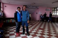 Stefan och Jangbu Sherpa som bland annat har 15 bestigningar av Mount Everest på meritlistan!