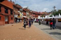Området vid Boudhanath stupa, Katmandu.