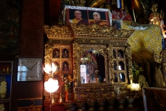 Buddhisttempel på området vid Boudhanath stupa, Katmandu.